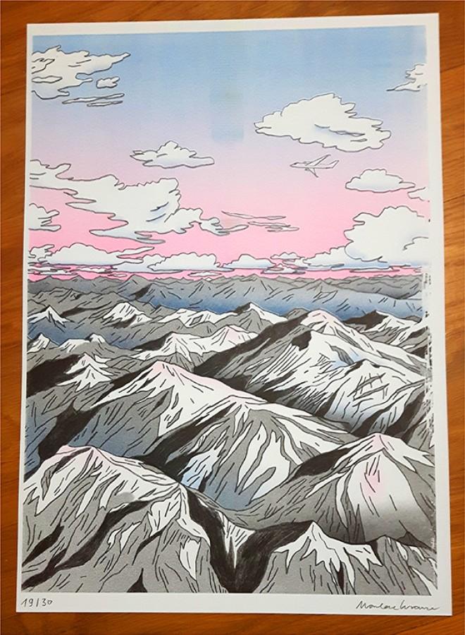 Andes Risograph Print